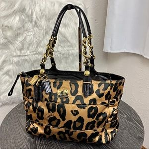 NEW Coach Patent Leather Cheetah Print Bag